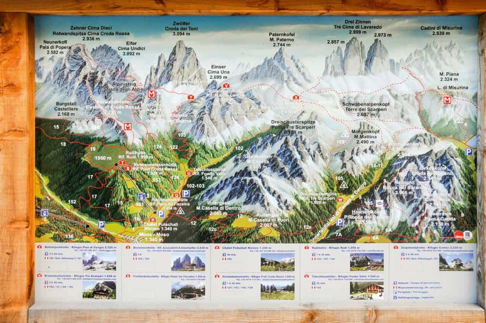 Rundt Om Dolomitternes Drei Zinnen Vandring Italien Opdag Verden