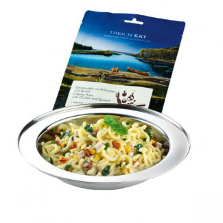 TREK´N EAT – Creamy Pasta with Chicken and Spinach